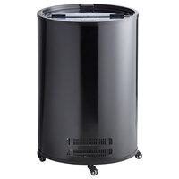 Galaxy BMF3-B Black Barrel Merchandiser Freezer - 2.5 cu. ft.