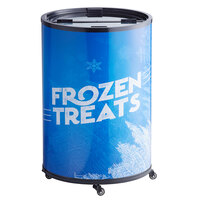 Galaxy BMF3-FT Wrapped Barrel Merchandiser Freezer - 2.5 cu. ft.