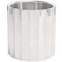 Front of the House SIB003MSS28 7 1/4 inch x 7 1/2 inch Fluted Stainless Steel Wine / Champagne Cooler