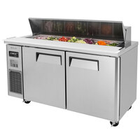 Turbo Air JST-60 60 inch 2 Door Side Mount Compressor Refrigerated Sandwich Prep Table
