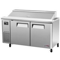 Turbo Air JST-60 60 inch J Series Two Door Refrigerated Salad / Sandwich Prep Table with Side-Mount Compressor