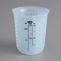 OXO 11161200 Good Grips 1/2 Cup Mini Squeeze & Pour Translucent Silicone Measuring Cup