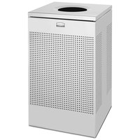 Rubbermaid FGSC18SSPL Silhouettes Stainless Steel Designer Waste Receptacle - 40 Gallon
