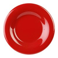 Thunder Group CR006PR 6 1/2 inch Pure Red Wide Rim Melamine Plate - 12/Pack