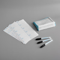 Puracycle 702443580032 Remarkable Washable / Reusable Plain Label Kit with 3 Foodservice Markers and 2 Microfiber Cloths