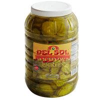 Del Sol 1 Gallon Sliced Dill Pickle Chips - 4/Case