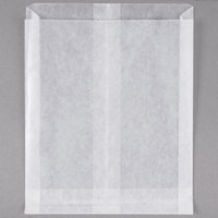 Bagcraft Papercon 91-265-DC White Wet Wax Sandwich Bag - 1000/Box