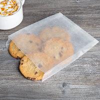 Bagcraft Papercon 300404 White Wet Wax Sandwich Bag - 1000/Box