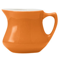 Hall China 30195W325 Tangerine 3.5 oz. Empire Creamer - 24/Case