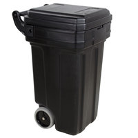 Continental 5850BK Tilt-N-Wheel 50 Gallon Black Rollout Trash Container with Lid