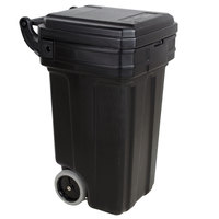Continental 5850BK Tilt-N-Wheel 50 Gallon Black Trash Container