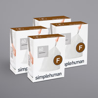 simplehuman CW0256MC 6.6 Gallon / 25 Liter Code F White Custom Fit Trash Can Liner - 240/Case
