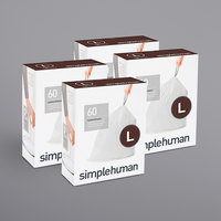 simplehuman CW0407MC 4.8 Gallon / 18 Liter Code L White Custom Fit Trash Can Liner - 240/Case