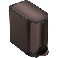 Simplehuman CW2043 2.6 Gallon / 10 Liter Dark Bronze Stainless Steel Butterfly Step-On Trash Can