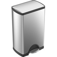 Simplehuman CW1814 10 Gallon / 38 Liter Brushed Stainless Steel Rectangular Front Step-On Trash Can