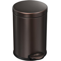 simplehuman CW2040 1.2 Gallon / 4.5 Liter Dark Bronze Stainless Steel Round Step-On Trash Can