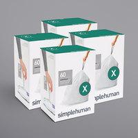 simplehuman CW0272MC 21 Gallon / 80 Liter Code X White Custom Fit Trash Can Liner - 240/Case