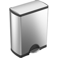Simplehuman CW1816 13 Gallon / 50 Liter Brushed Stainless Steel Rectangular Front Step-On Trash Can