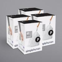 simplehuman CW0263MC 13-16 Gallon / 50-60 Liter Code P White Custom Fit Trash Can Liner - 240/Case