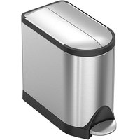 simplehuman CW1899 2.6 Gallon / 10 Liter Brushed Stainless Steel Butterfly Step-On Trash Can
