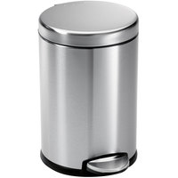 Simplehuman CW1852 1.2 Gallon / 4.5 Liter Brushed Stainless Steel Round Step-On Trash Can