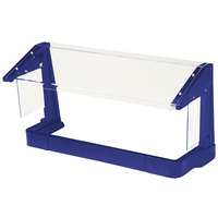 Cambro FSG720186 6' Navy Blue Free-Standing Sneeze Guard