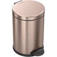 simplehuman CW2056 1.2 Gallon / 4.5 Liter Rose Gold Stainless Steel Round Step-On Trash Can