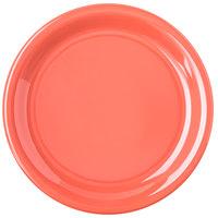 Carlisle 4300852 Durus 6 1/2 inch Sunset Orange Narrow Rim Melamine Plate - 48/Case