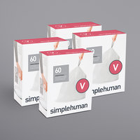 simplehuman CW0408MC 4.2-4.8 Gallon / 16-18 Liter Code V White Custom Fit Trash Can Liner - 240/Case