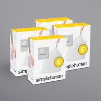 simplehuman CW0255MC 5.3 Gallon / 20 Liter Code E White Custom Fit Trash Can Liner - 240/Case
