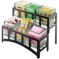 Cal-Mil 1723-13 Mission Two Tier Black Steel Six Jar Display - 14 inch x 9 inch x 7 inch