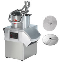 Sammic CA-41 1 1/2 hp Continuous Feed Food Processor with 1/8 inch Slicing Disc and 1/8 inch Shredding Disc