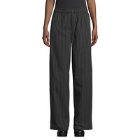 Uncommon Threads 4003 Unisex Black / White Pinstripe Customizable Yarn-Dyed Chef Pants - 2XL