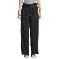 Uncommon Threads 4003 Unisex Black / Red Pinstripe Customizable Yarn-Dyed Chef Pants - M