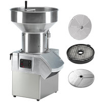 Sammic CA-61 1 1/2 hp Continuous Feed Food Processor with 1/8 inch Shredding Disc, 3/8 inch Shredding Disc, and 3/8 inch Dicing Grid