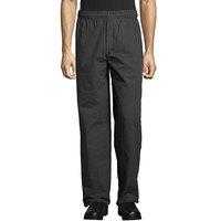 Uncommon Threads 4003 Unisex Gray Triple Pinstripe Customizable Yarn-Dyed Chef Pants - M