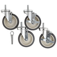 Beverage-Air 61C01-014D-01 Equivalent 6 inch Replacement Casters - 4/Set