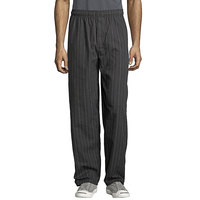Uncommon Threads 4003 Unisex Red / White Pinstripe Customizable Yarn-Dyed Chef Pants - XL