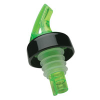 Precision Pours 999 SG C Shamrock Green Free Flow Liquor Pourer with Collar - 12/Pack
