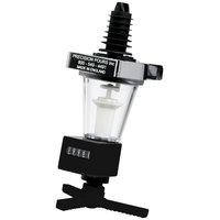 Precision Pours 1 1/4 oz MM Rack & Pour 1.25 oz. Measured Liquor Pourer Head with Shot-Counting Meter for Bottle Rack Systems