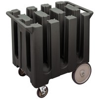 Cambro DC575110 Black Poker Chip Dish Dolly / Caddy with Vinyl Cover - 6 Column