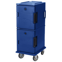 Cambro UPC800SP186 Navy Blue Camcart Ultra Pan Carrier - Front Load Tamper Resistant