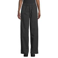 Uncommon Threads 4003 Unisex Black / White Pinstripe Customizable Yarn-Dyed Chef Pants - 4XL