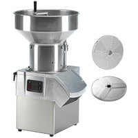 Sammic CA-61 1 1/2 hp Continuous Feed Food Processor with 1/8 inch Slicing Disc and 1/8 inch Shredding Disc