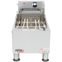 APW Wyott EF15iN 15 lb. Commercial Countertop Deep Fryer - 208/240V