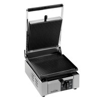 Eurodib ELIO Panini Grill with Grooved Plates - 9 7/8 inch x 10 inch Cooking Surface - 110V, 1800W