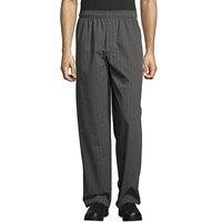 Uncommon Threads 4003 Unisex Classic Broken Twill Customizable Yarn-Dyed Chef Pants - L