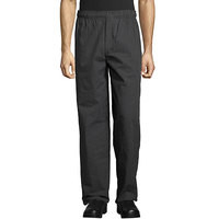 Uncommon Threads 4003 Unisex Gray Triple Pinstripe Customizable Yarn-Dyed Chef Pants - 4XL