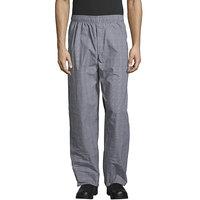 Uncommon Threads 4003 Unisex Glen Plaid Customizable Yarn-Dyed Chef Pants - L