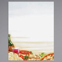 8 1/2 inch x 11 inch Menu Paper - Italian Themed Pasta Design Left Insert - 100/Pack